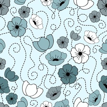 Flower seamless pattern. Vector illustration Vector