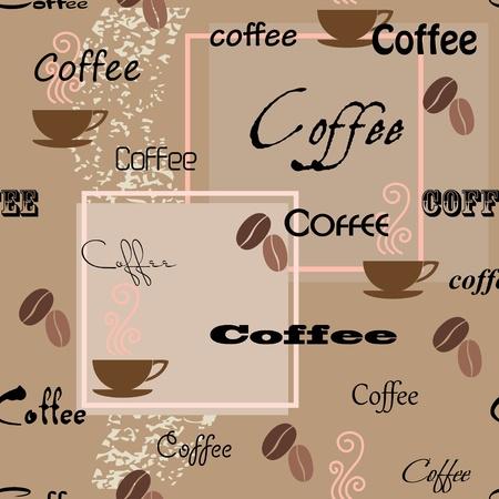 Coffee seamless pattern. Vector illustration