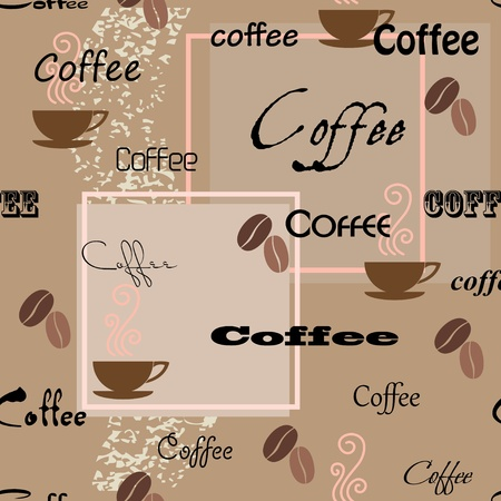 decorative wallpaper: Coffee seamless pattern. Vector illustration