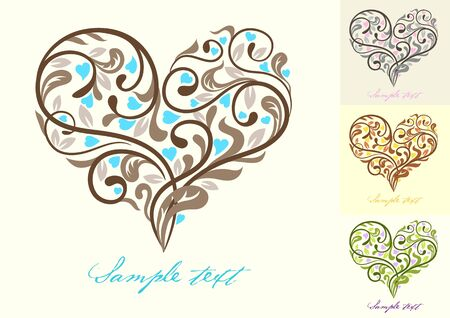Greeting card with heart. Vector illustration Vector