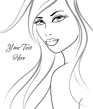 Beautiful girl in fashion style. Vector illustration