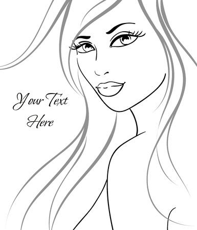 Beautiful girl in fashion style. Vector illustration