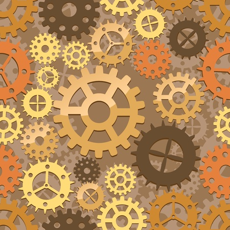 sprocket: Seamless cogs background. Vector illustration