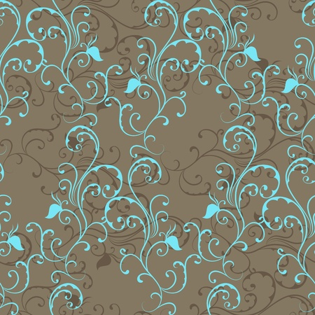 Seamless pattern with curl. Vector illustration Vector