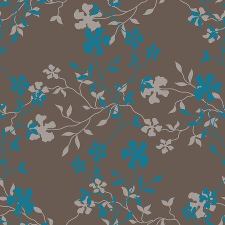 Seamless floral background. Vector illustration Illustration