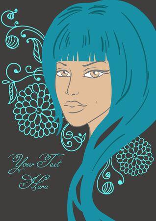 Beautiful girl in fashion style. Vector illustration Stock Vector - 10802381