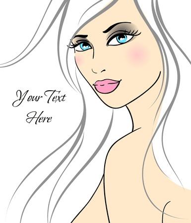 Beautiful girl in fashion style. Illustration