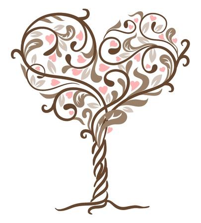Tree of love.  Illustration