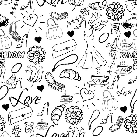 decorative accessories: Abstract fashion background. Vector illustration Illustration
