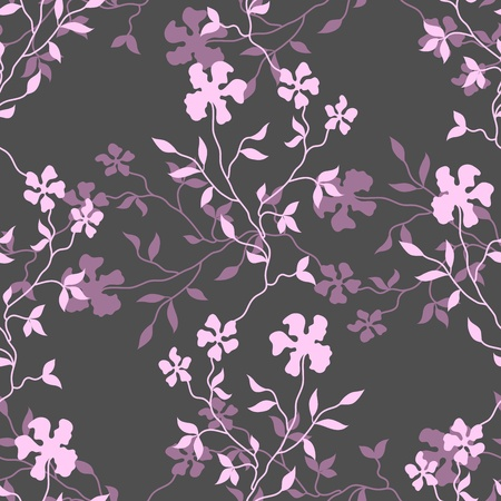 floral fabric: Seamless floral background. Vector illustration Illustration