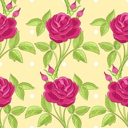 Seamless pattern with roses. Vector illustration Vector