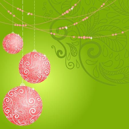 Fantasy christmas ball background. Vector illustration Vector