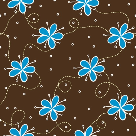 Seamless pattern with flowers. Vector illustration Vector