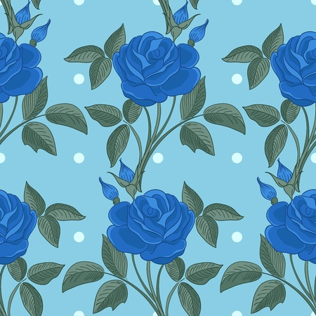 Seamless pattern with roses. Vector illustration Stock Vector - 11928081