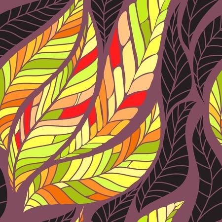 Leaves seamless pattern. Vector illustration Illustration