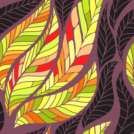 Leaves seamless pattern. Vector illustration Illustration
