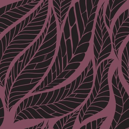 Leaves seamless pattern illustration