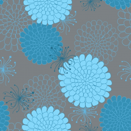Seamless pattern with flowers. Vector