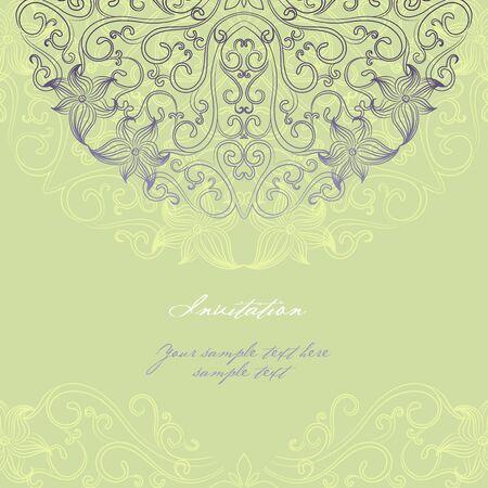 Elegant invitation cards.