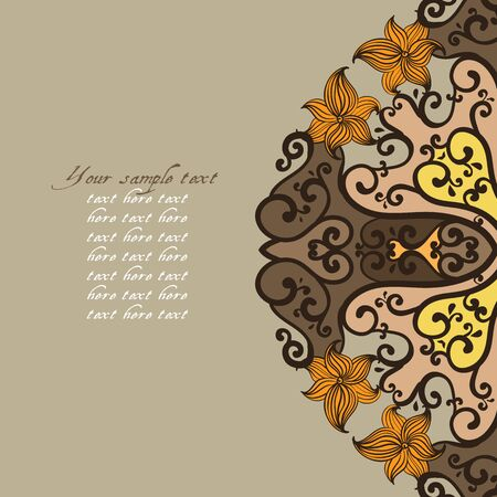 Ornamental round lace pattern. Vector illustration Vector