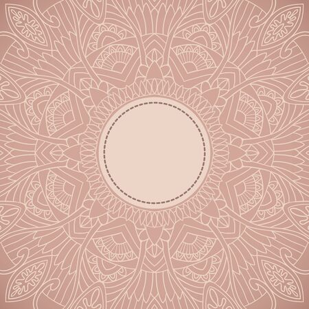 Ornament background in ethnic style. Vector illustration Vector