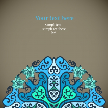 Ornamental round lace in fantasy style. Vector illustration Vector