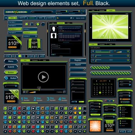 Web design elements set full Vector
