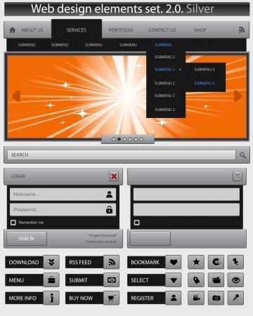 Creative web design elements set Stock Vector - 14352457