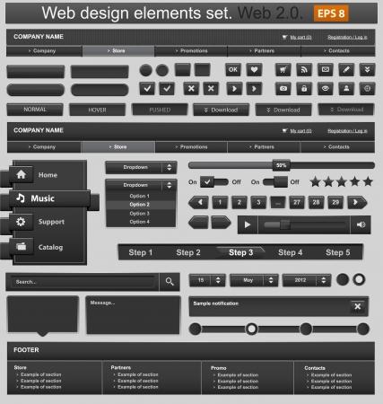Web design elements set