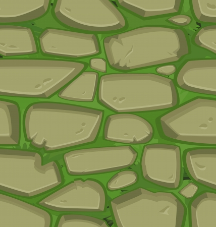 rubble: Green grass with stones