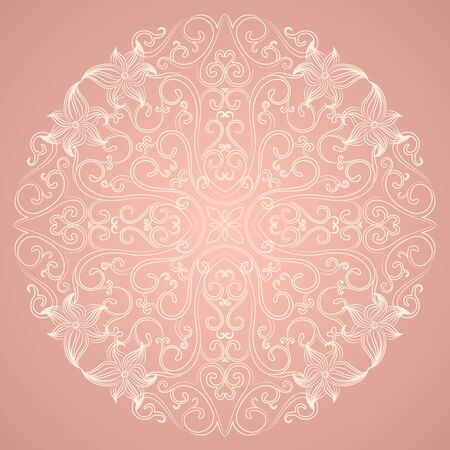Ornamental round lace pattern  Vector illustration Vector