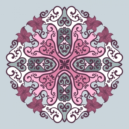 Ornamental round lace in fantasy style  Vector illustration Vector