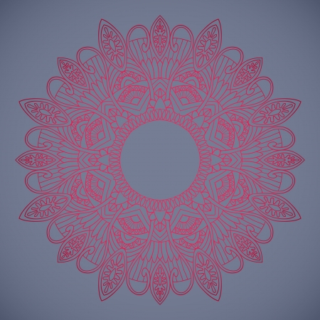 Ornamental round lace in ethnic style  Vector illustration Vector