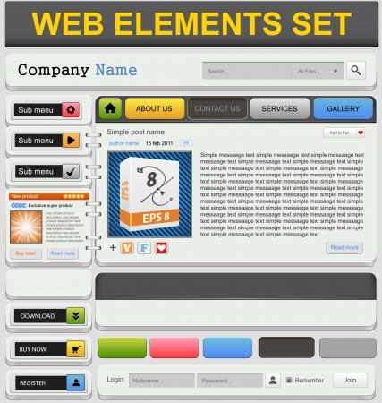 Web design elements set  Vector illustration Stock Vector - 19481127