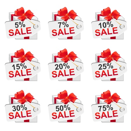 discount banner: White sale presents set  Vector illustration Illustration
