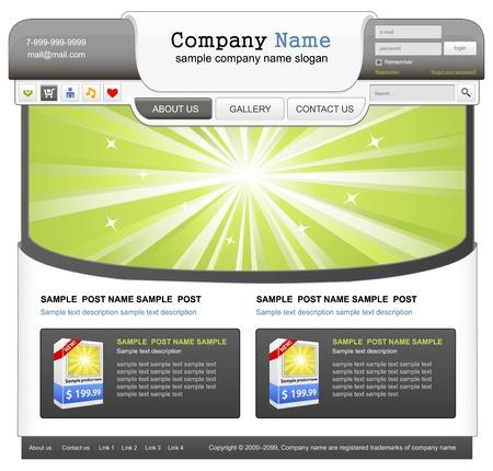 Web design elements set.  Vector