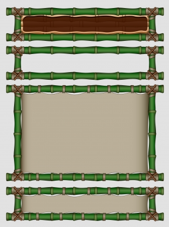 Bamboo banners set  Vector illustration Vector