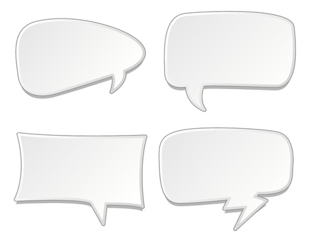 message box: Speech bubbles set  illustration Illustration