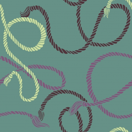 Seamless pattern with ropes illustration Vector