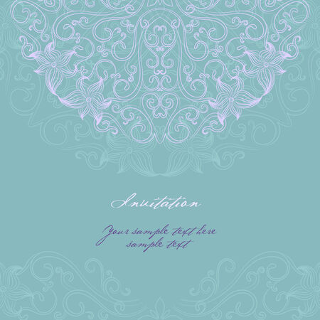 Elegant invitation cards. Vector illustration Vector