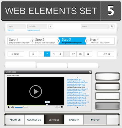 web design elements: Web design elements set. Vector illustration Illustration