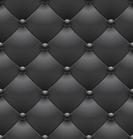 Black royal upholstery seamless background.