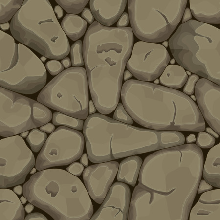 paving: Brown stone seamless background. Vector illustration