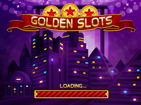 Loading screen for slots game. Vector illustration Vector