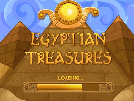 slots: Loading screen for slots game. Vector illustration