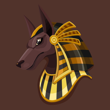 Symbol head of Anubis. Vector illustration