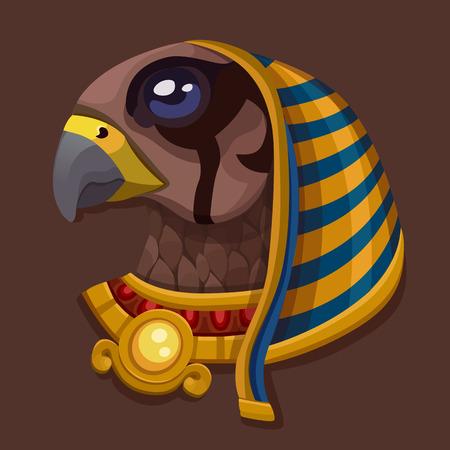 ra: Head symbol of god Ra. Vector illustration Illustration