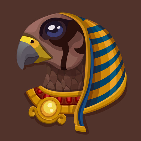 Head symbol of god Ra. Vector illustration Illustration
