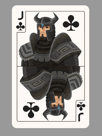 jack of clubs: Jack of clubs playing card. Vector illustration