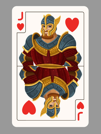 jack of hearts: Jack of hearts playing card. Vector illustration